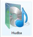ikona složky Hudba ve Windows 7